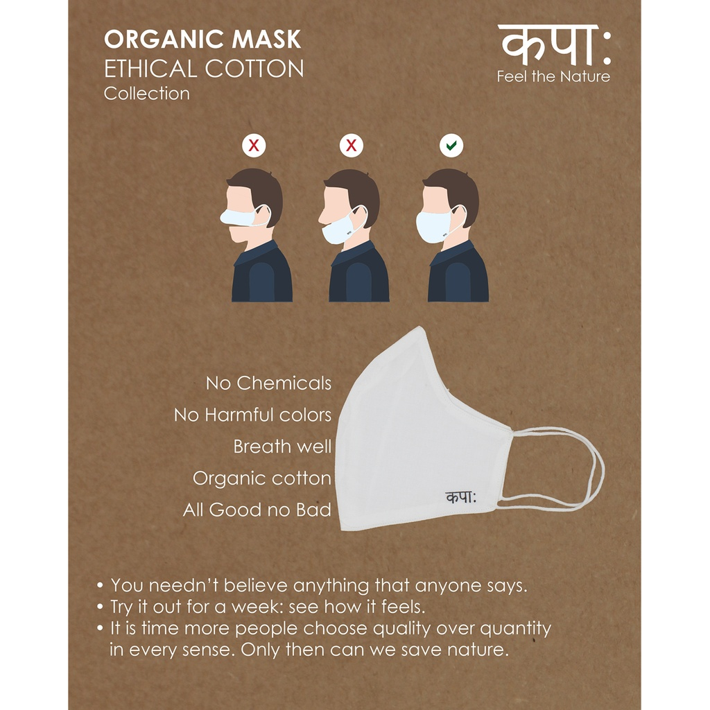 Kapaha Organic Cotton Face Mask (pack of 2)