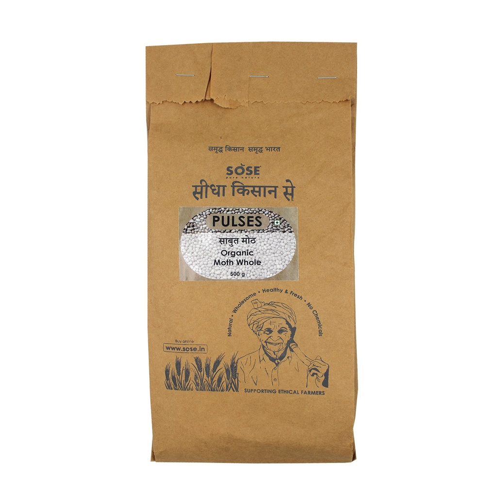 Sidha Kisan Se Organic Moth Whole 500gm